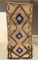 "Authentic Moroccan Azilal Handmade Rug #M34 6'1"" x 2'6"" Wool Berber Tribal"