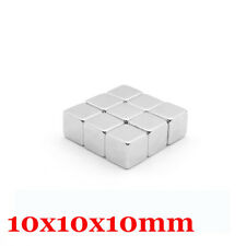 5pcs Neodymium Block Square Magnet Strong Rare Earth Large Magnets 10mm Length