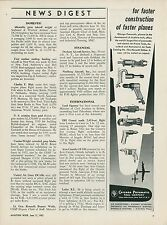 3 1951 Chicago Pneumatic Tool Co. Ads Air Tools Aviation Industry Drill Grinder