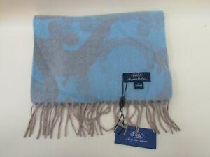 Gobi Mongolian Cashmere Blue Gray 100% Cashmere Fringe Scarf Made in Mongolia