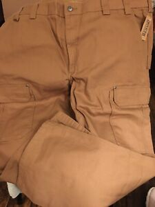 "Duluth Trading Mens Brown Fire Hose Work Pants Size 48"" X 32"" NEW"