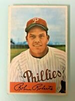 1954 BOWMAN BASEBALL PHILADELPHIA PHILLIES ROBIN ROBERTS #95 CARD - HOF NM/MT