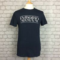 EMPORIO ARMANI MENS UK M NAVY CREW NECK LOGO T-SHIRT TSHIRT TEE DESIGNER SMART