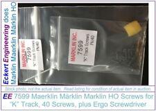 """EE 7599-40 NEW Marklin HO """"K"""" Track Screws plus Ergo Straight Screwdriver #267"""