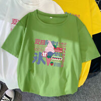 Japanese Kawaii Women Girl Loose T Shirt Blouse Short Sleeve Tee Top Casual Cute