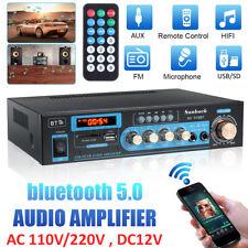 2000W HiFi Verstärker bluetooth 2 Kanal Zuhause Auto Stereo Amplifier FM-Radio