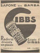 W1132 Sapone da barba GIBBS - Pubblicità 1926 - Vintage Advert