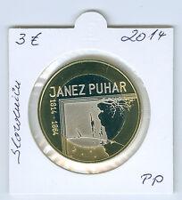 Slowenien  3 Euro 2014 Janez Puhar PP