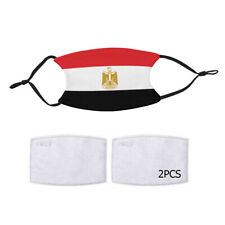 Reusable Face Mask 2 Filter Egypt Egyptian Flag Country Pride Patriotic National