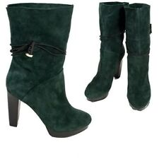 HOUSE OF HARLOW 1960 NICOLE RICHIE Dark Green DYSON Booties SUEDE FREE SHIPPING