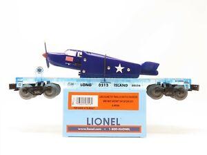 O Gauge 3-Rail Lionel 6-58556 Long Island Flat Car #0213 w/ Navy Aircraft Load