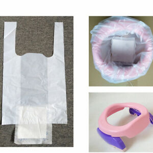 10Pcs Disposable Baby Kids Toilet Training Potty Liners Bag Toilet Clean-up Bags