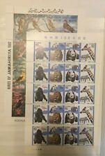 Thématique, 2 Feuillets de timbres neufs MNH, bien