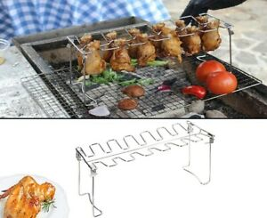 Chicken Wing & Leg Rack for Grill Smoker Oven Stainless Steel Vertical Roaster