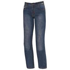 Pantalons jeans bleus coton pour motocyclette