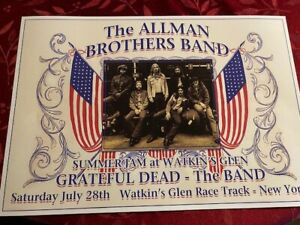Allman Brothers Gregg Allman Grateful Dead Poster Watkins Glen 1973 Woodstock