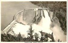 1930s RPPC Postcard; Diablo Dam Full Spillway Skagit Project Whatcom County WA