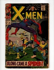 X-Men #35 Comic Book Spider-Man Appearance Crossover 1967 Lower Grade Silver Age