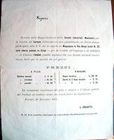 1877 FERRARA VENDITA DI CARBONE 'FAGGIO' SOCIETA' INDUSTRIALE MONTANARA