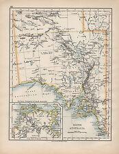 1898 VICTORIAN MAP ~ SOUTH AUSTRALIA ~ ARNHEM LAND ADELAIDE