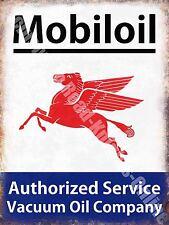Vintage Garage, Mobiloil Mobil Motor Oil, Advertising 44, Small Metal Tin Sign
