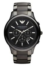 NEW Emporio Armani AR1452 Black Ceramic Chronograph Watch Men's Fashion Watch***