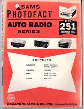 Sams Photofact-Auto Radio Manual/#AR-251/First Edition-First Print/1977