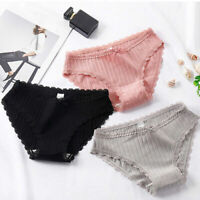 Womens Sexy Cotton Lace Underwear Briefs Comfy Underpants Soft Seamless Panties