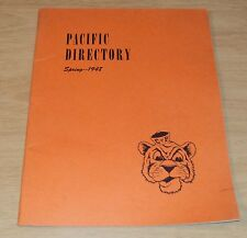 "1948 School DIRECTORY~""College of the PACIFIC"" C of P Stockton CA~Ads/Activities"