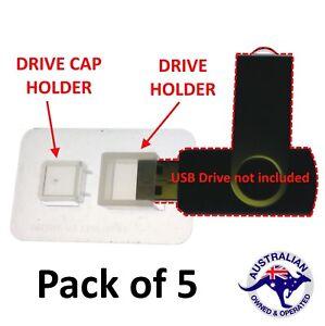 5 USB thumb drive holders super clear self adhesive free post
