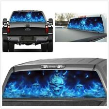 NEW Durable Truck Suv Jeep Rear Window Flaming Skull Sticker Accessories