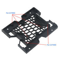 "2.5"" to 3.5"" SSD Hard Drive Tray Caddy Case Adapter Cooling Fan Bracket Welcome"