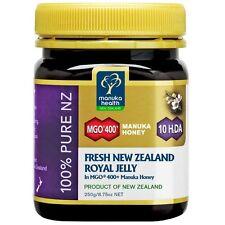 Manuka Health Fresh Royal Jelly in New Zealand MGO 400+ Manuka Honey 250g/8.75oz