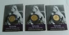 More details for queen victoria coin packs - set of 3 - gold sovereigns