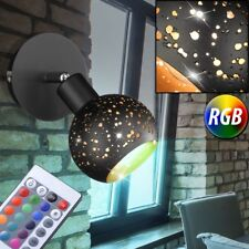 Luxus RGB LED Wand Leuchte Schlaf Gäste Zimmer Lese Spot Strahler Gold DIMMBAR