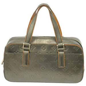 Louis Vuitton Shelton M55172 Monogram Mat Leather Mini Boston Hand Bag Noir LV