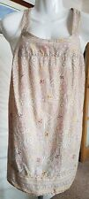 Evans Beige Floral Beaded Strappy Cami Top size 18 (AV1)