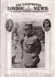 1918 London News June 15 - Training War-dogs; U.S. captures Germans at Cantigny