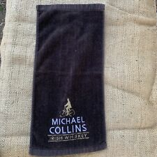 Vintage Michael Collins Irish Whiskey Stitched British Bar Towel