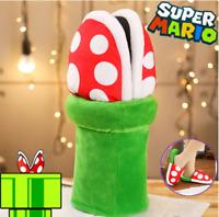 1 Pair Super Mario Bros Piranha Flower Slipper Soft Plush Shoe Cosplay Prop Gift