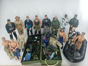 "Huge Lot of 12""  GI Joe Action Figures, Ultra Corps And Accessories"