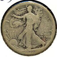 1916-D 50C Walking Liberty Half Dollar, SEMI-KEY DATE! (59368)