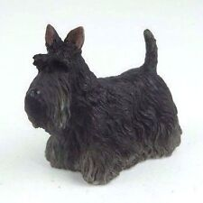 "Scottish Terrier Puppy Dog in Black - Collectible Figurine Miniature 3""L New"