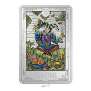 1 Ounce Silver Proof Tarot Cards - The Fool - Der Narr 2$ Niue 2021