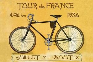 1927 Tour de France Fine World France Bicycle Bike Vintage Poster Repo FREE S//H