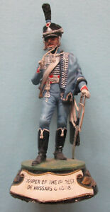 Pewter hand-painted figure of the French 1st Regiment of Hussars 1808