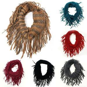 Girl's Loop Round Tassel Girls Scarf Warm Winter Autumn Kids Collar Neck Wrap