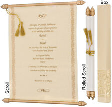 100pcs wedding invitations, engagement wishes cards scroll wedding invitation