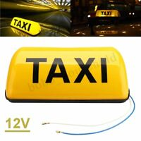 Taxi Roof Sign Yellow Aerodynamic Taxi Meter Topsign Magnet Roof Light Y UK U1
