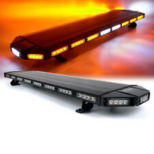 "Xprite 48"" Amber LED Strobe Light Bar Rooftop Emergency Warning Control Box 12V"